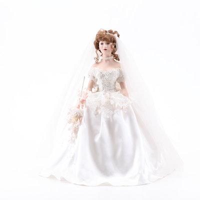 Paradise Galleries Porcelain Bride Doll, 1999