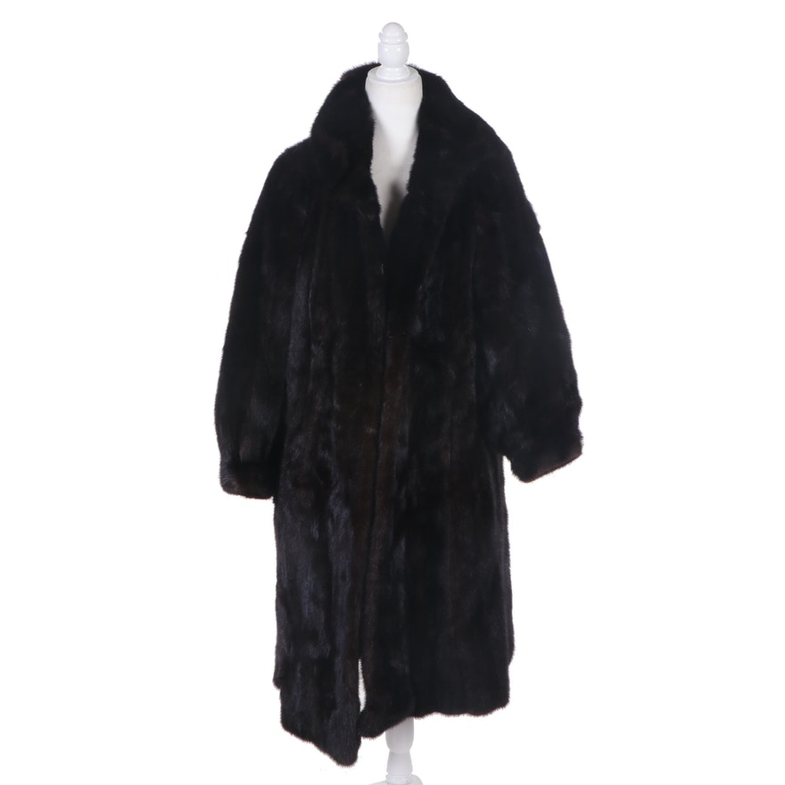 Dark Mahogany Mink Fur Coat from Berman Furs of Rochester