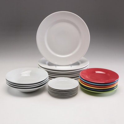"Heinrich ""Chateau Weiss"" Bread and Butter Plates and Other Ceramic Dinnerware"
