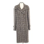 Chanel Raw Edge Tweed Double-Breasted Coat Embellished with Sequins
