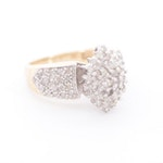 10K Yellow Gold 1.10 CTW Diamond Ring