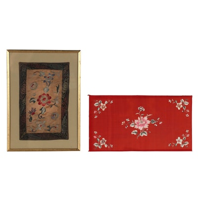Chinese Handmade Silk Embroidery Panels