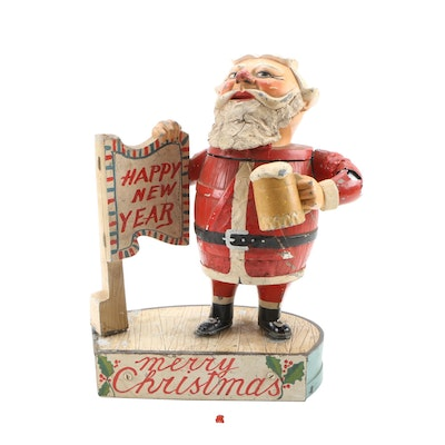 Blatz Personalized Santa Back Bar Beer Figurine