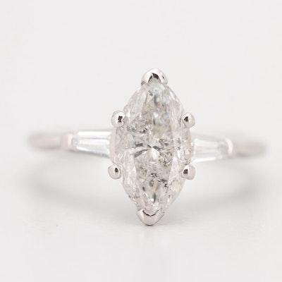 Platinum 1.60 CTW Diamond Ring