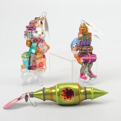 "Christopher Radko Christmas Ornaments Including ""Balancing Act,"" Set of Three"