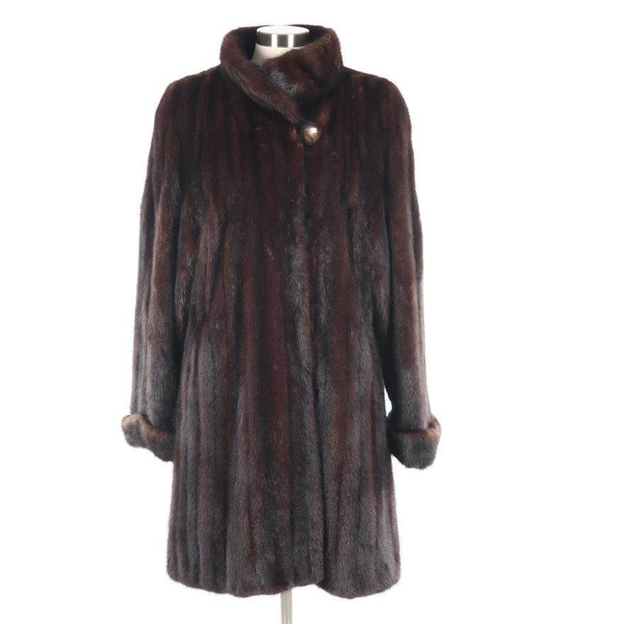 Saga Mink Mahogany Mink Fur Coat, Vintage