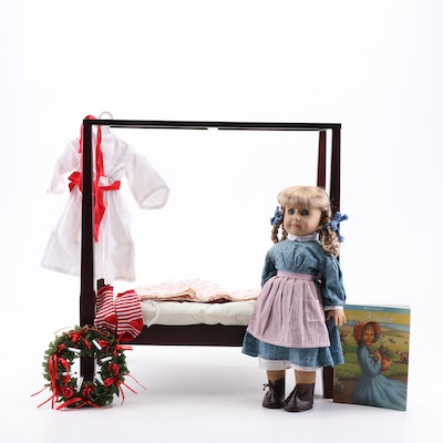 """American Girl """"Kirsten"""" Doll with Book, """"Saint Lucia"""" Set, and """"Felicity's Bed"""""""