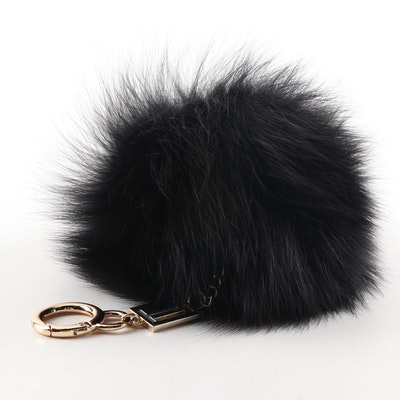 Love Token Dyed Fox Fur Keychain