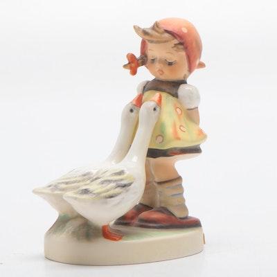 "Goebel M. I. Hummel ""Goose Girl"" Porcelain Figurine, Circa 1980s"