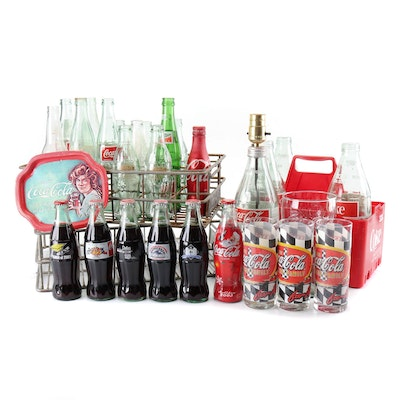 Vintage Coca-Cola Bottles, Glasses and Carriers