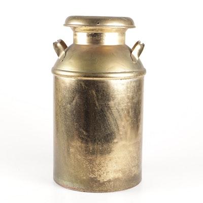 40-Quart Brass Milk Can, Early 20th Century