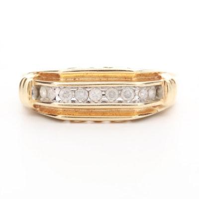 "10K Yellow Gold Diamond ""Dad"" Ring"