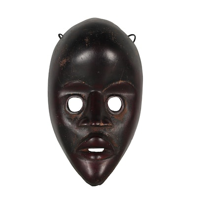 West African Carved Wood Dan Style Mask