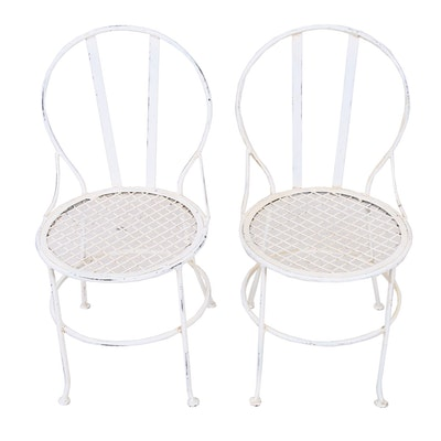 Diminutive Metal Patio Chairs, Mid to Late 20th Century