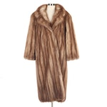 Golden Sable Fur Full-Length Coat