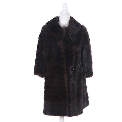 Dark Mahogany Mink Fur Coat from Alixandre Furs New York