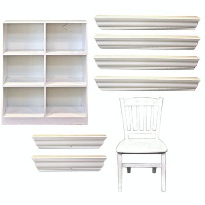 White Wooden Furniture Including Pottery Barn