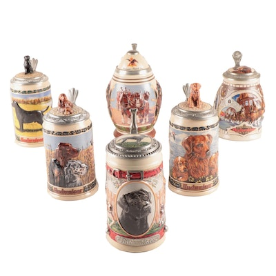 Budweiser Membership and Hunter's Companion Series Beer Steins, 1990s–2000s