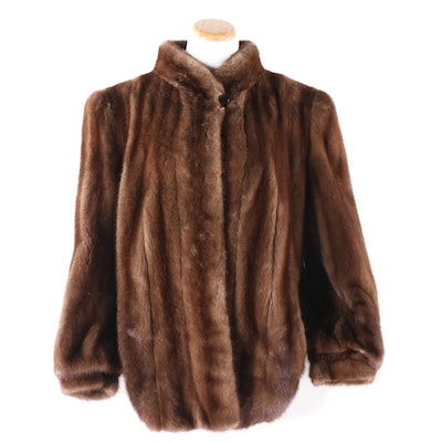 Mink Fur Jacket with Tapered Cuffs from Steiger's, Vintage