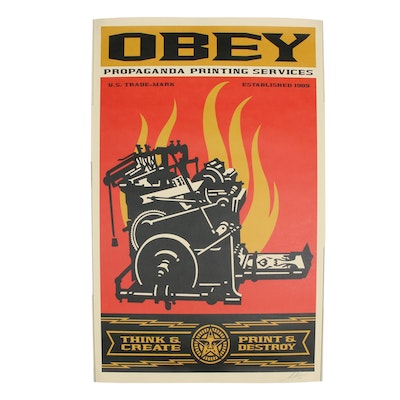 "Shepard Fairey 2019 Offset Print ""Print and Destroy"""