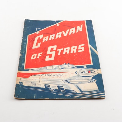 """1960s """"Caravan of Stars"""" Program Signed by Fabian and More"""