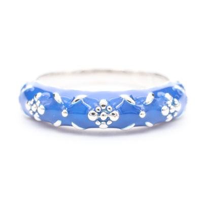 Sterling Silver Enamel Ring