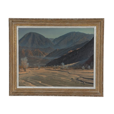 Robert Rishell Western Landscape Oil Painting