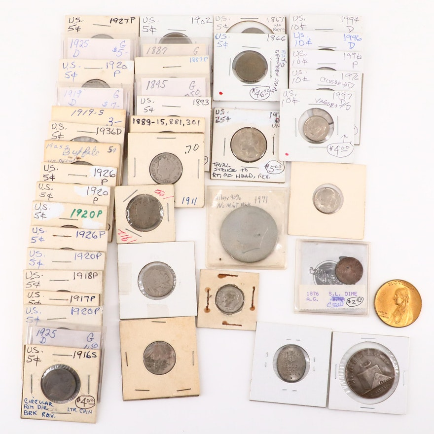 Thirty-Nine Various U.S. Coins