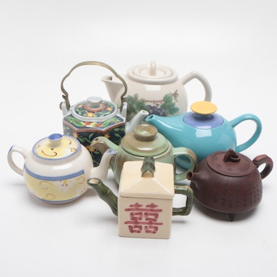 Teapots Featuring Takahashi Hand Decorated Teapot and More, Late 20th Century
