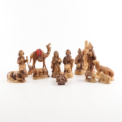 Hand-Crafted Olivewood Nativity Scene