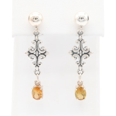Sterling Silver Andalusite Drop Earrings