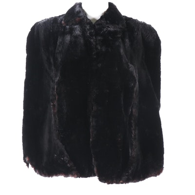 Dyed Sheared Beaver Fur Capelet from Miller & Rhoads