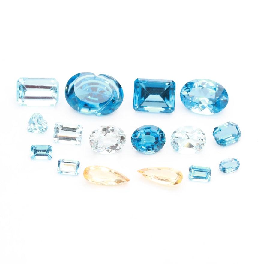 Loose 55.09 CTW Topaz Gemstones