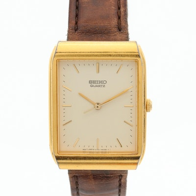 Seiko V701-5KO9 Gold Tone Quartz Wristwatch