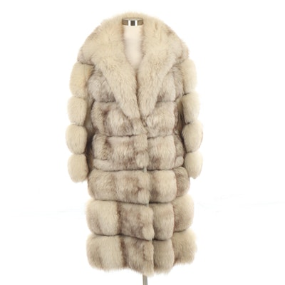 Evans Fox Fur Extendable Coat with Shawl Collar, Vintage