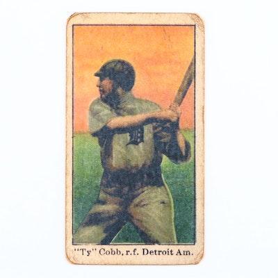1909 E90-1 American Caramel Co. Early Ty Cobb HOF Baseball Card