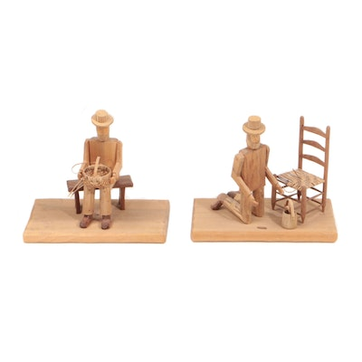 Donnie Brown Folk Sculptures of Male Figures