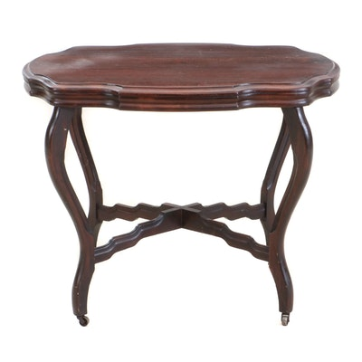 Victorian Mahogany Side Table, Late 19th Century