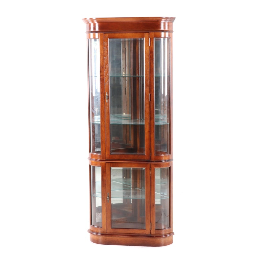 Illuminated Furniture Mahogany Curio Cabinet