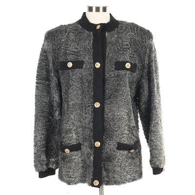 Maximillian Gray Persian Lamb and Knit Jacket from Bloomingdale's