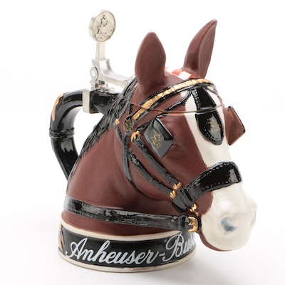 """Anheuser-Busch """"Clydesdale Parade Dress"""" Character Beer Stein, 2004"""