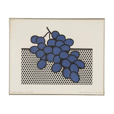 "Serigraph after Roy Lichtenstein ""Grappe Bleue"""