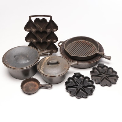 WKM Cast Iron Sauce Pan and Other Cast Iron Pans and Molds