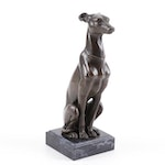 Cold Cast Bronze Dog Sculpture after Antoine-Louis Barye