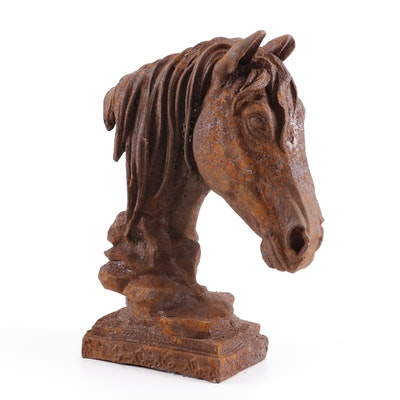Cast Iron Horse Sculpture