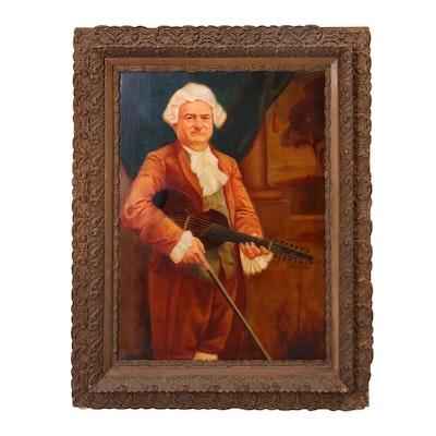 "E.T. Ware Oil Painting ""Portrait of Mr. Carl Wunderle"""
