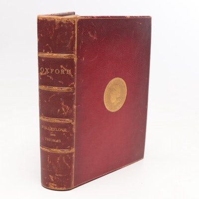 "1903 Leather Bound ""Oxford"" by Edward Thomas"