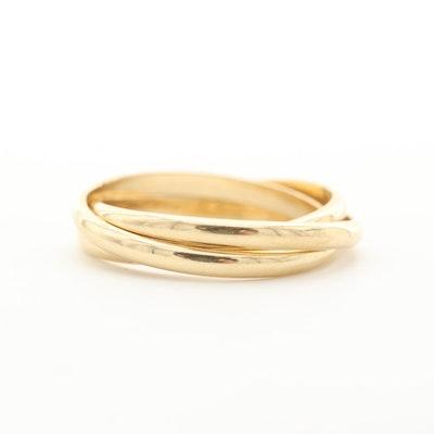 10K Yellow Gold Interlocking Rings