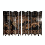 Large Chinese Gilt Coromandel Lacquer Folding Screen