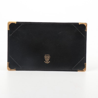 Gucci Grained Leather Notebook Holder, Vintage